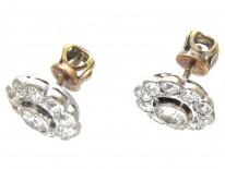 Art Deco Diamond Cluster Earrings