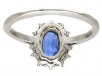 Art Deco Oval Sapphire & Diamond Ring