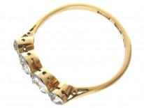 18ct & Platinum Art Deco Diamond Four Stone Ring