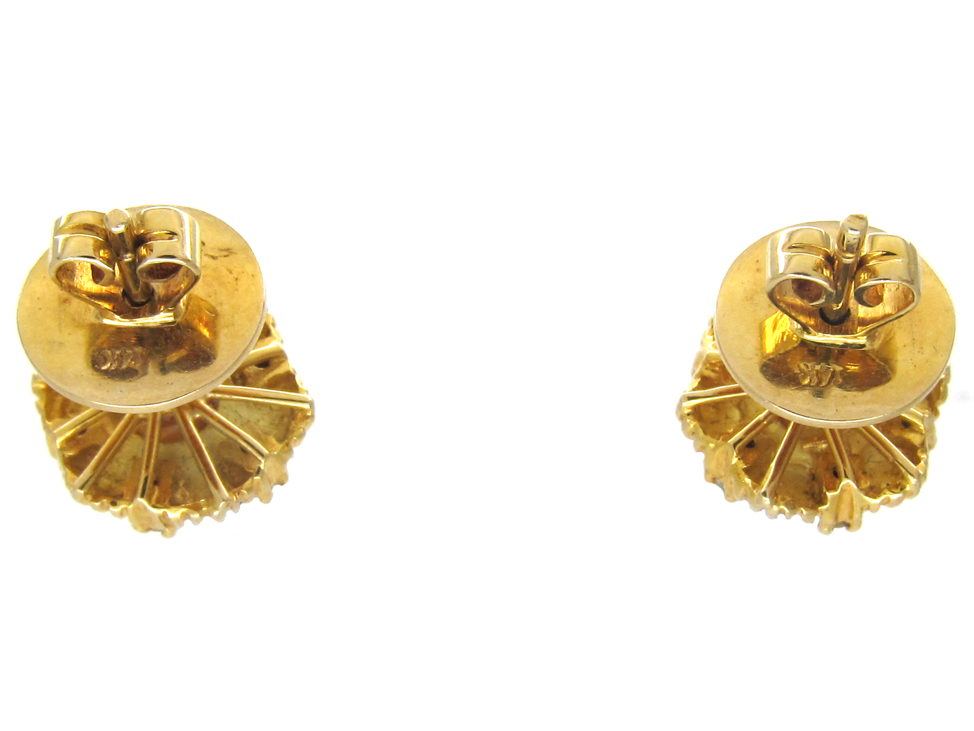 14ct Gold, Pearl & Diamond Round Earrings