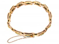 Edwardian 9ct Gold & Green Tourmaline Bracelet