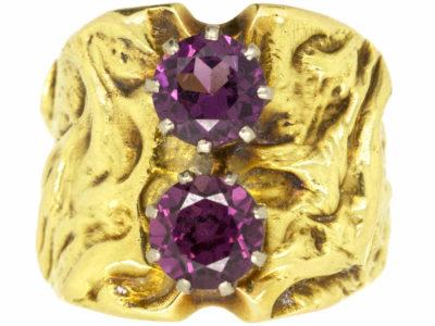 18ct Gold & Garnet Ring by Vivian Pitchford
