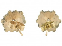Edwardian Bohemian Garnet Cluster Earrings