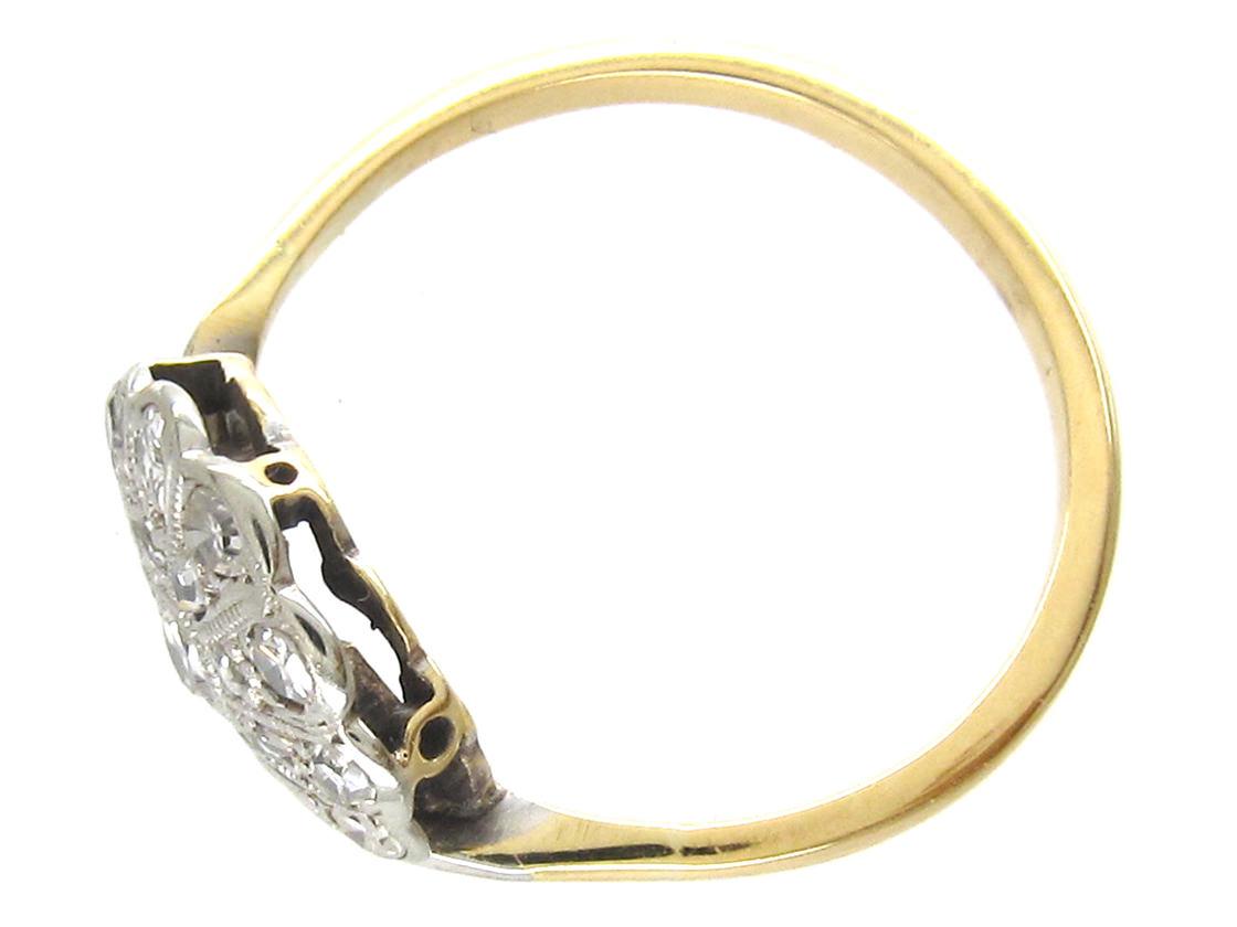 Art Deco Diamond Fan Ring