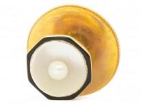 Art Deco 9ct Gold , Black Enamel, Natural Pearl & Mother of Pearl Dress Set in Asprey Case