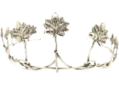 Victorian Silver Acorn & Oak Leaf Tiara