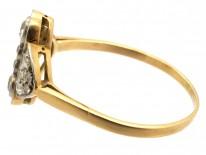 Wavy & Geometric  Art Deco Diamond Ring