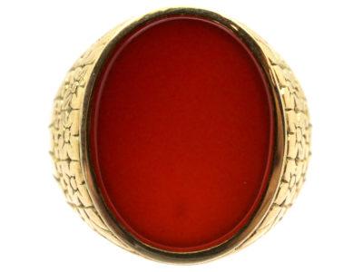 14ct Gold Carnelian Signet Ring