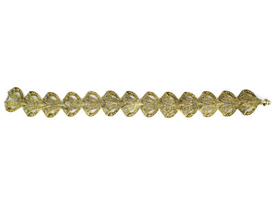 Theodor Farhner Silver Gilt & Marcasite Bracelet