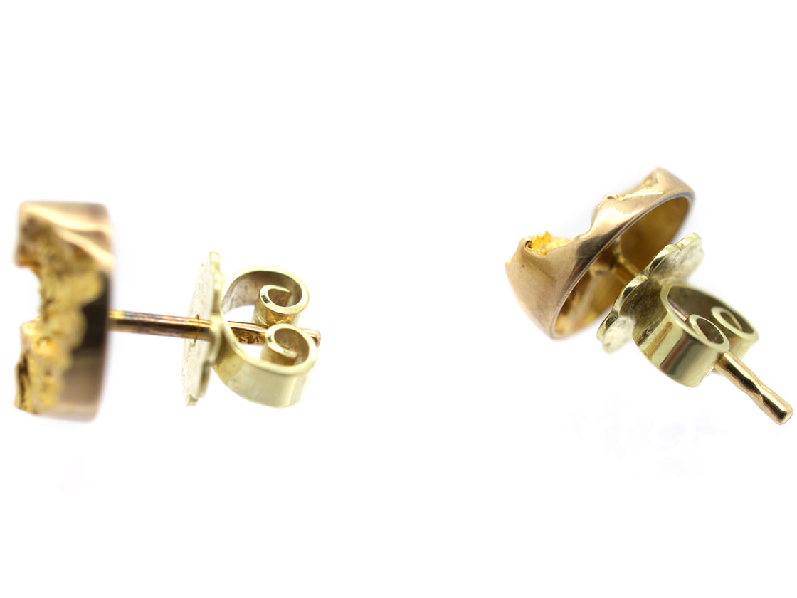 14ct Gold Round Earrings by Björn Weckström for Lapponia