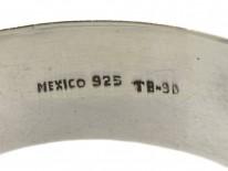 Mexican Silver & Malachite Bangle