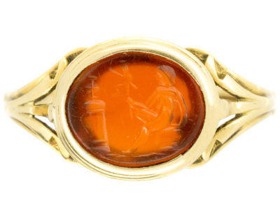 18ct Gold Roman Intaglio Signet Ring
