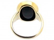 Victorian 18ct Gold & Bloodstone Intaglio of a Wolf's Head Signet Ring