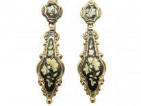 15ct Gold Swiss Enamel Drop Earrings circa 1820