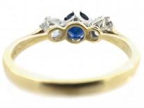 Three Stone Sapphire & Diamond Ring
