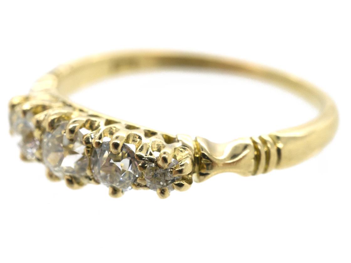 18ct Gold Victorian Five Stone Diamond Ring
