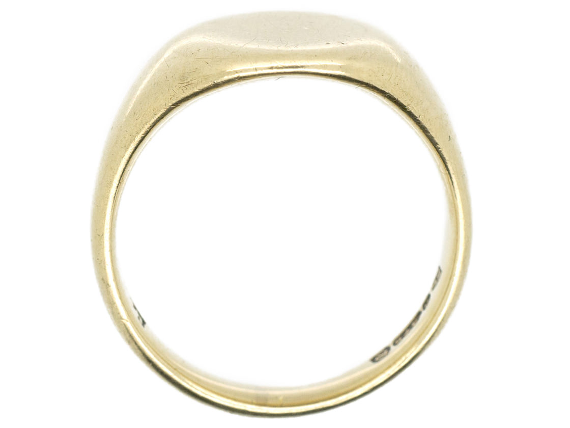 9ct Gold Plain Signet Ring