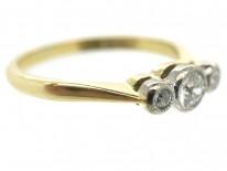 Edwardian 18ct Gold & Diamond Three Stone Ring