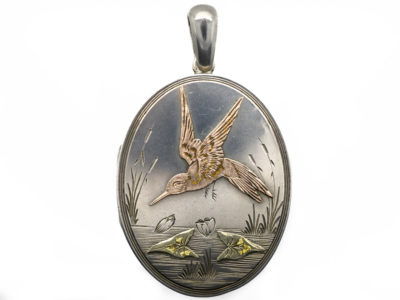 Victorian Aesthetic Period Silver & Gold Overlay Locket