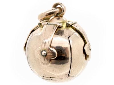 9ct Gold & Silver Opening Masonic Ball Pendant