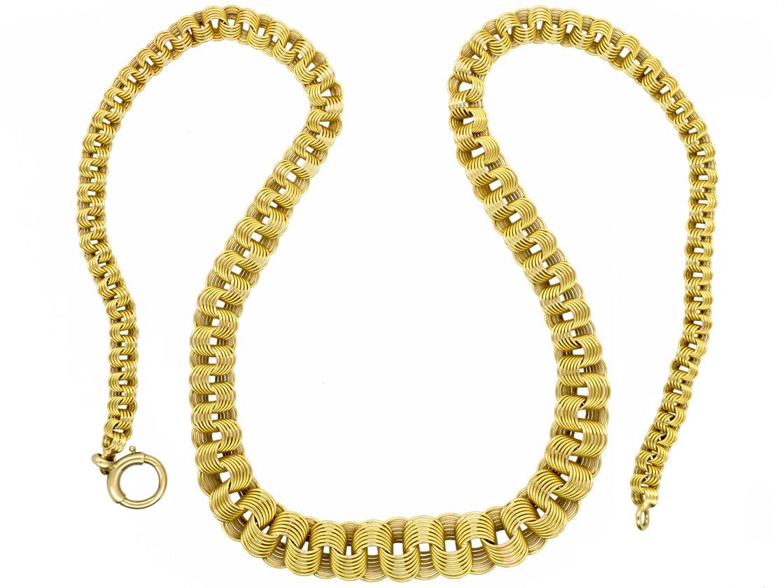 18ct Woven Gold Collar By Allan Gard