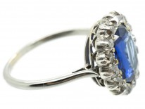 Oval Sapphire & Diamond Cluster Ring