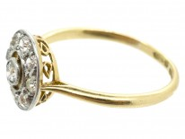 Art Deco Diamond Set Target Ring