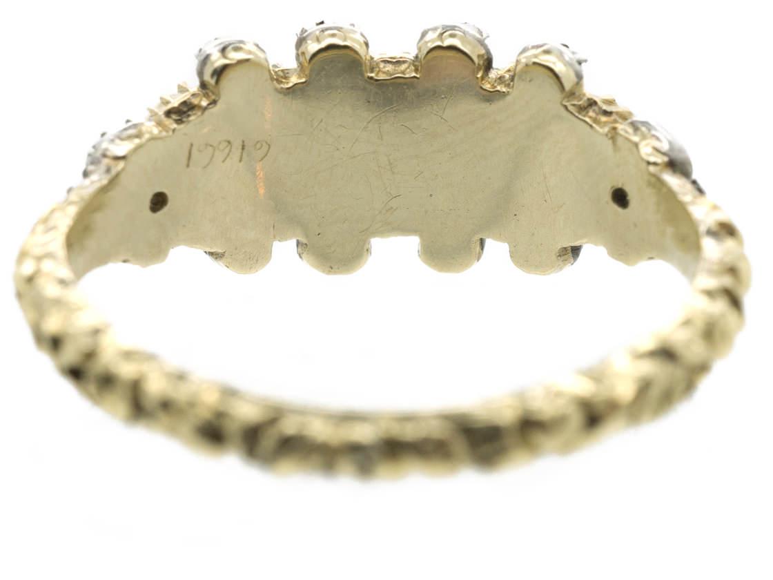 Regency Natural Pearl & Diamond Ring