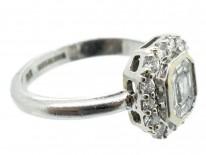 Platinum & Diamond Rectangular Ring