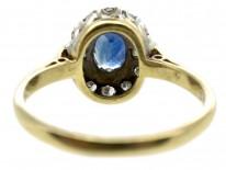 Sapphire & Baguette & Round Diamond Ring