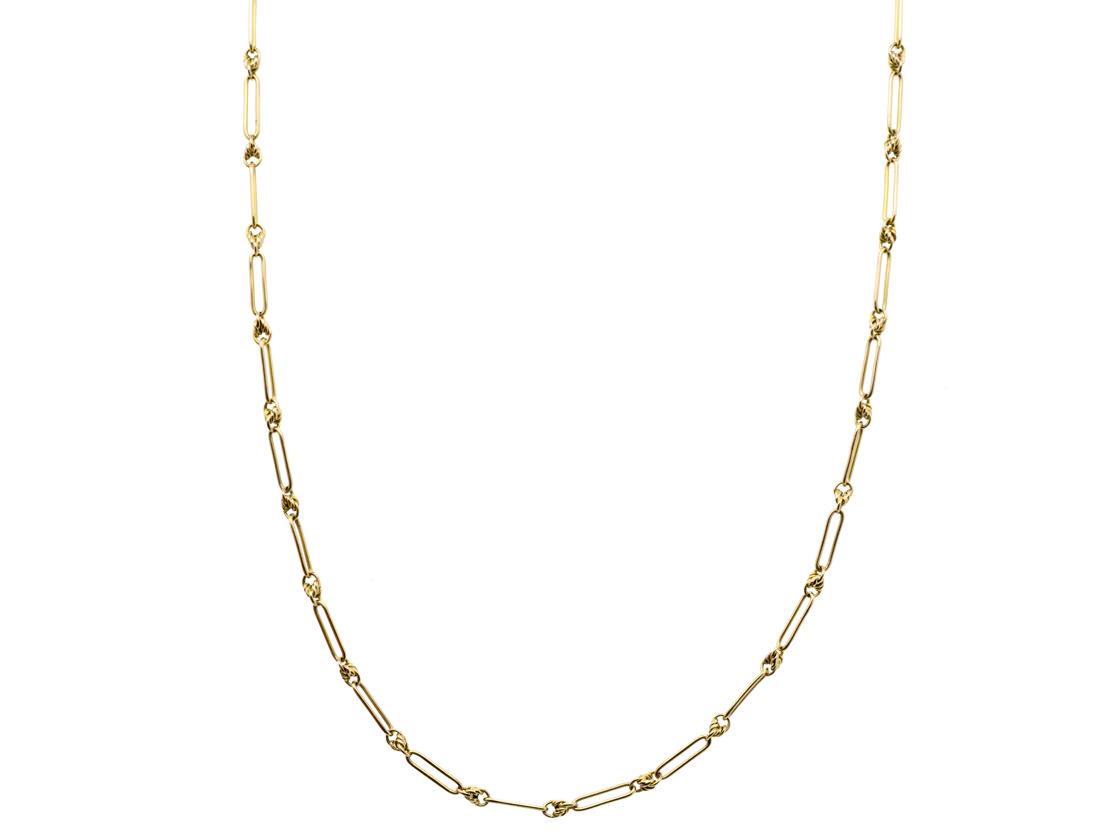 Edwardian 9ct Gold Decorative Chain