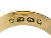Victorian 18ct Gold Signet Ring Set With a Shield Shaped Bloodstone