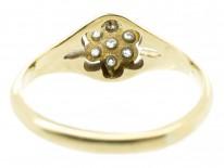 Edwardian 18ct Gold & Platinum Diamond Cluster Ring