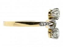 Edwardian Two Stone Diamond Figure of Eight Ring
