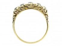 Victorian Five Stone Old Mine Cut Diamond Ring