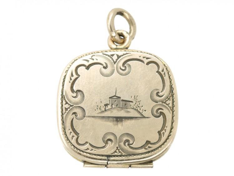 Georgian Engraved Gold Cased Locket