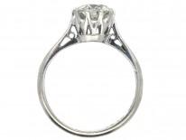 18ct White Gold & Platinum One Carat Diamond Solitaire Ring