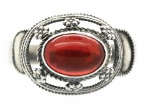 Arts & Crafts Silver & Fire Opal Ring