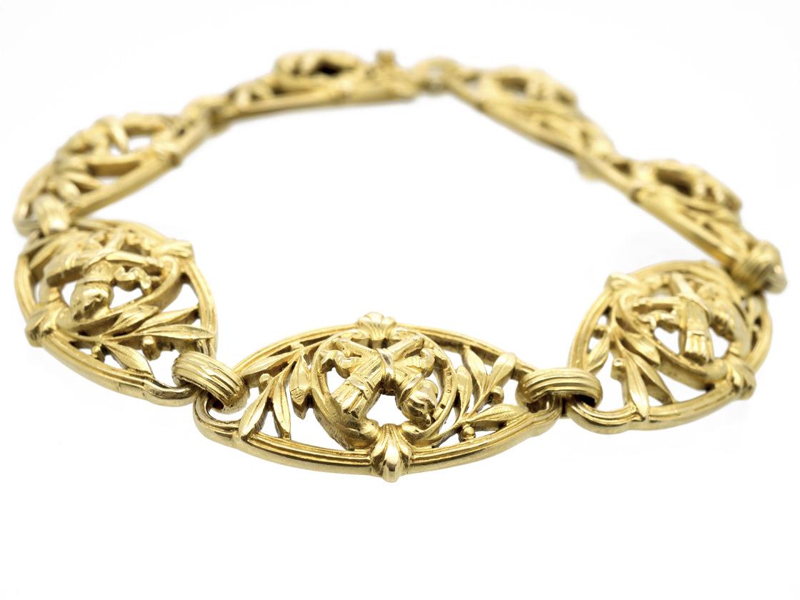 French Belle Epoque 18ct Gold Bracelet