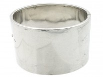 Victorian Wide Engraved Silver Bangle