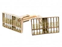 9ct Gold Abacus Cufflinks