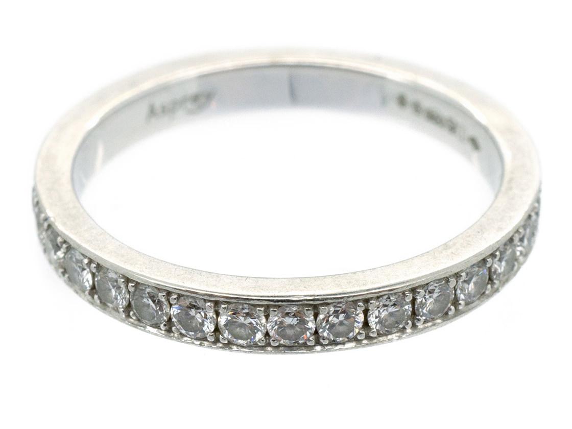 Platinum & Diamond Eternity Ring made by Asprey