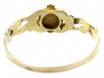 18ct Gold Late Georgian Gem Set Posy Ring