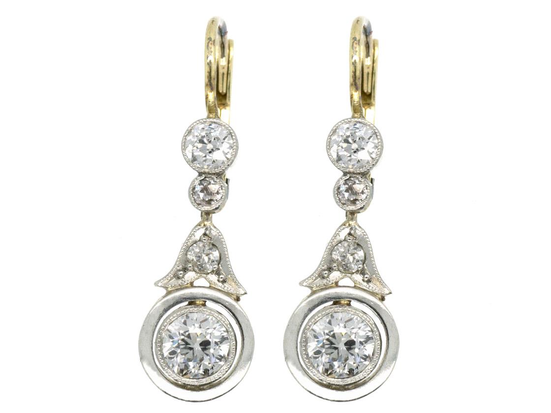 Art Deco Diamond Drop Earrings