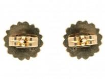 Victorian 9ct Gold & Diamond Stud Earrings