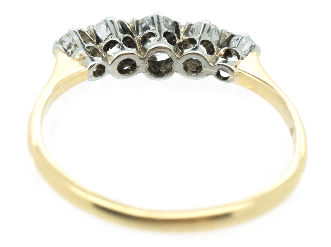 18ct Gold Diamond Five Stone Ring