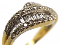 18ct Gold Diamond Twist Ring