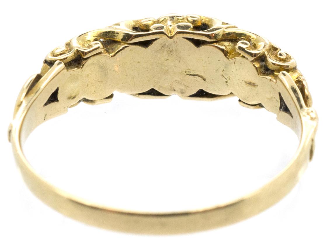 Late Georgian 18ct Gold Dearest Ring