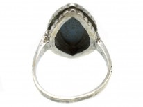 Silver & Marcasite Marquise Shaped Wedgwood Ring