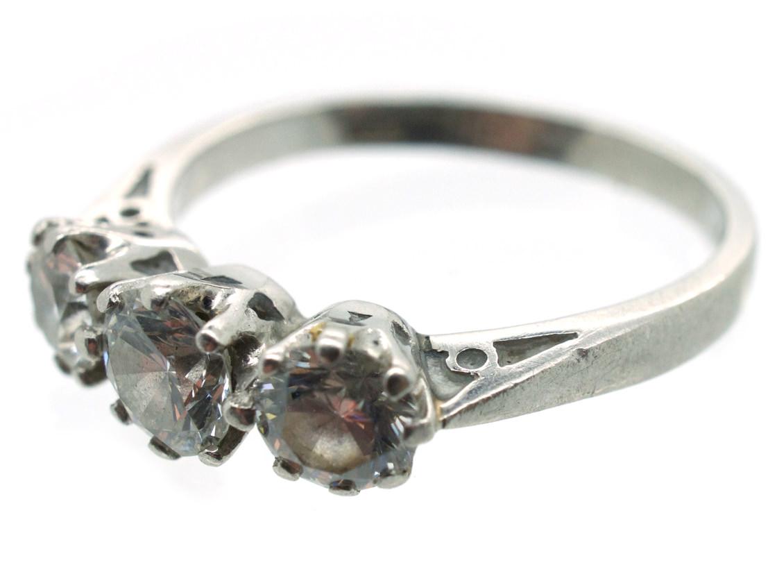 Platinum Three Stone Diamond Ring
